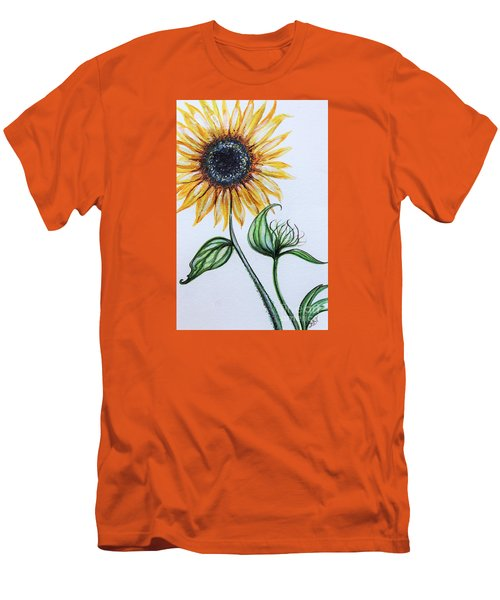 Sunflower Botanical Men's T-Shirt (Slim Fit) by Elizabeth Robinette Tyndall
