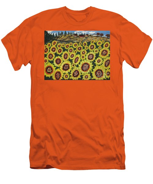 Sunflower Fields  Forever Men's T-Shirt (Athletic Fit)