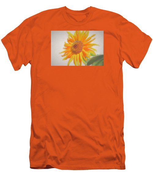 Men's T-Shirt (Slim Fit) featuring the painting Sunflower Painting by Debra     Vatalaro
