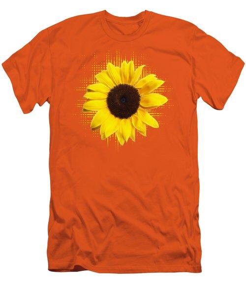 Sunflower Sunburst Men's T-Shirt (Slim Fit) by Gill Billington
