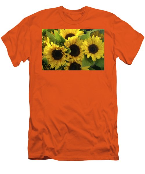 Sunflowers Men's T-Shirt (Slim Fit) by Henri Irizarri