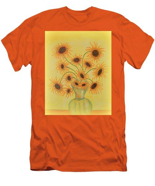 Sunflowers Men's T-Shirt (Slim Fit) by Marie Schwarzer