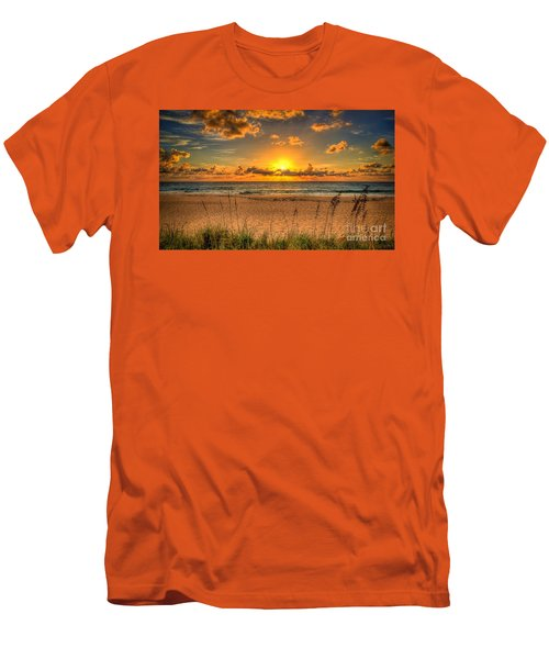 Sunny Beach To Warm Your Heart Men's T-Shirt (Slim Fit) by Rod Jellison