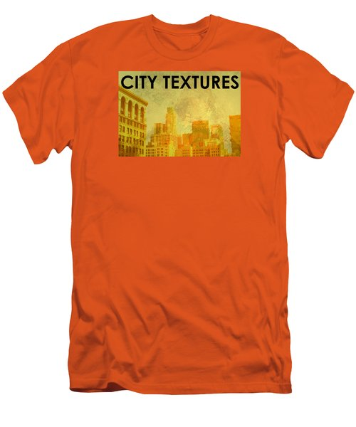 Men's T-Shirt (Slim Fit) featuring the mixed media Sunny City Textures by John Fish
