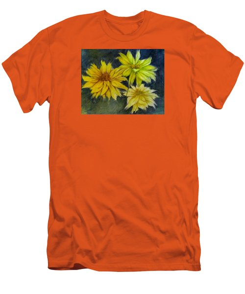 Sunny Yellow Men's T-Shirt (Slim Fit) by Barbara O'Toole