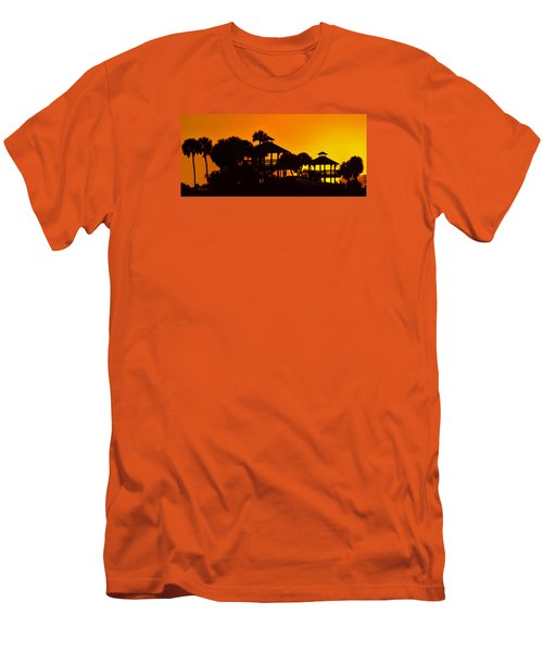 Men's T-Shirt (Slim Fit) featuring the photograph Sunrise At Barefoot Park by Don Durfee
