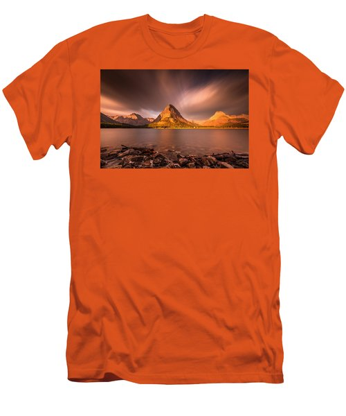 Sunrise In Glacier National Park Men's T-Shirt (Slim Fit) by Pierre Leclerc Photography