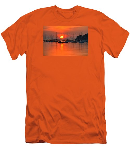 Sunrise On Salem Harbor Salem Ma Men's T-Shirt (Athletic Fit)