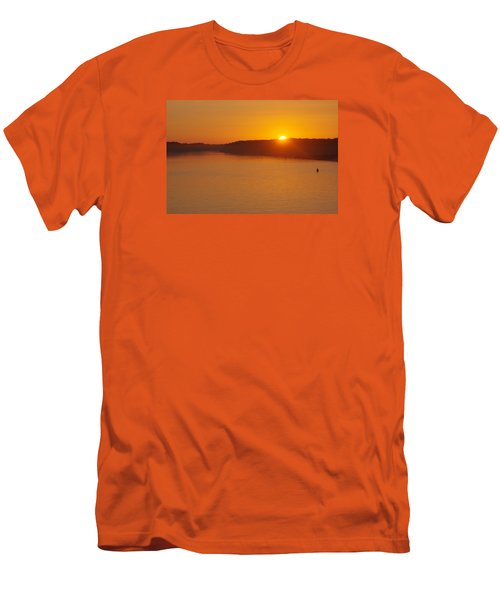 Men's T-Shirt (Slim Fit) featuring the photograph Sunrise On The Ferry by Greg Graham