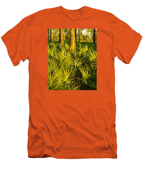Sunrise Saw Palmettos Men's T-Shirt (Athletic Fit)