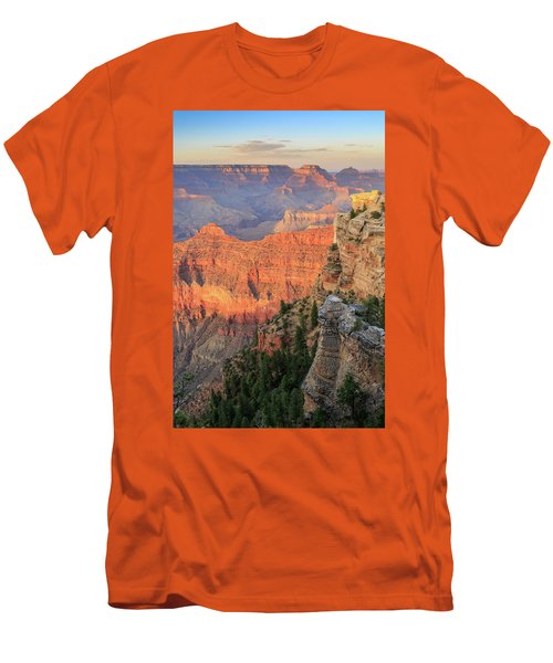 Sunset At Mather Point Men's T-Shirt (Slim Fit) by David Chandler