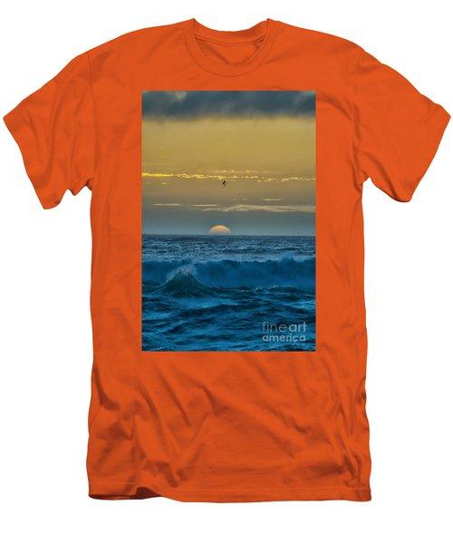 Sunset At Sea Men's T-Shirt (Slim Fit) by Billie-Jo Miller