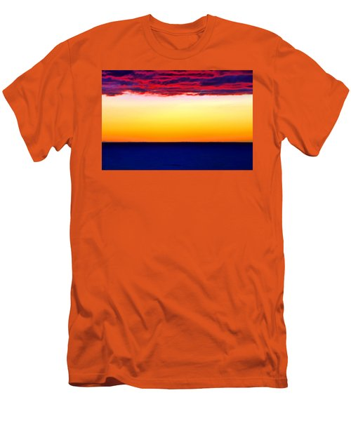 Sunset Background Men's T-Shirt (Athletic Fit)
