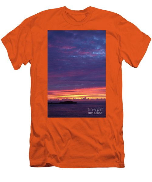 Men's T-Shirt (Slim Fit) featuring the photograph Sunset Clouds In Newquay, Uk by Nicholas Burningham