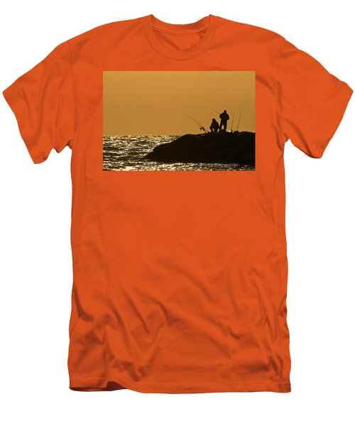 Sunset Fishermen Men's T-Shirt (Athletic Fit)