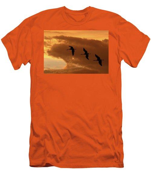 Sunset Flight Men's T-Shirt (Athletic Fit)