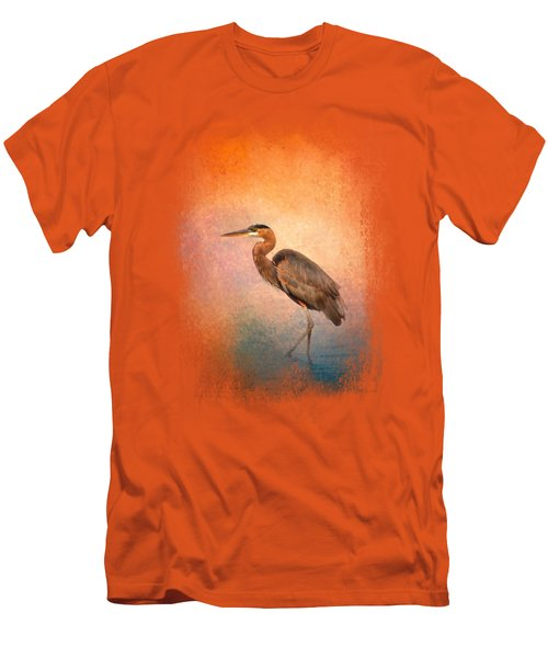 Sunset Heron Men's T-Shirt (Slim Fit) by Jai Johnson