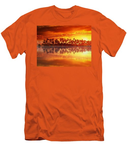 Sunset In Paradise Men's T-Shirt (Slim Fit) by Gabriella Weninger - David