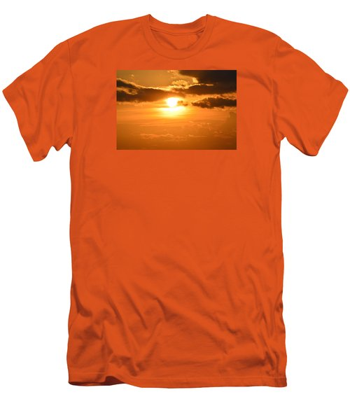 Men's T-Shirt (Slim Fit) featuring the photograph Sunset In The Clouds  by Lyle Crump