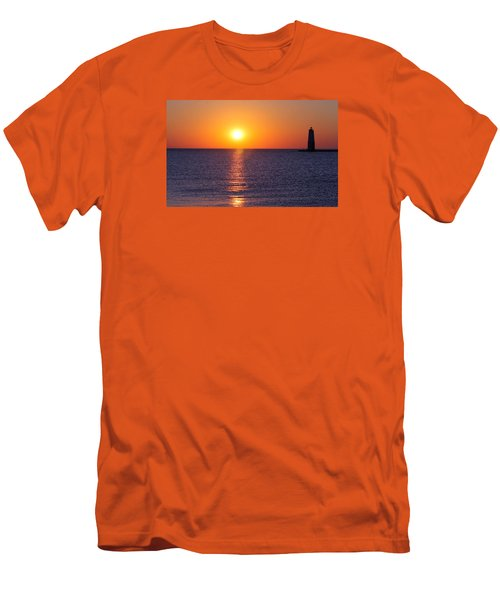 Men's T-Shirt (Slim Fit) featuring the photograph Sunset On Lake Michigan by Bruce Patrick Smith