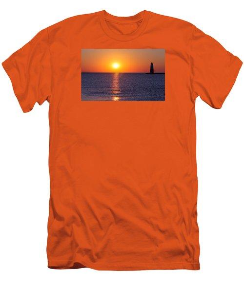 Sunset On Lake Michigan Men's T-Shirt (Slim Fit)