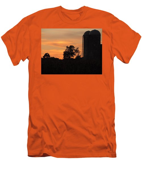 Men's T-Shirt (Slim Fit) featuring the photograph Sunset On The Farm by Teresa Schomig
