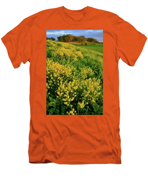Sunset On Wildflowers In Glacial Park Mccd Men's T-Shirt (Athletic Fit)