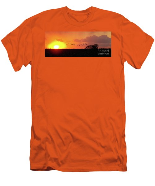 Sunset Over Easy Men's T-Shirt (Slim Fit) by Sue Stefanowicz
