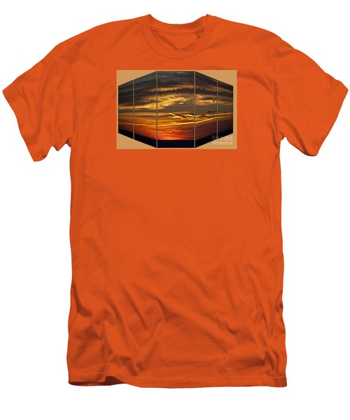 Men's T-Shirt (Slim Fit) featuring the photograph Sunset Perspective by Shirley Mangini
