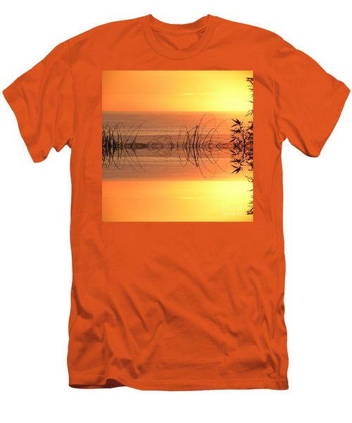Sunset Reflection Men's T-Shirt (Slim Fit) by Sheila Ping