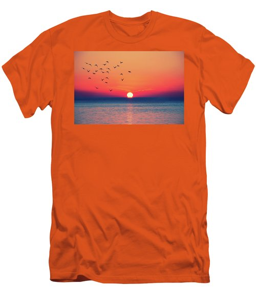 Sunset Wishes Men's T-Shirt (Athletic Fit)