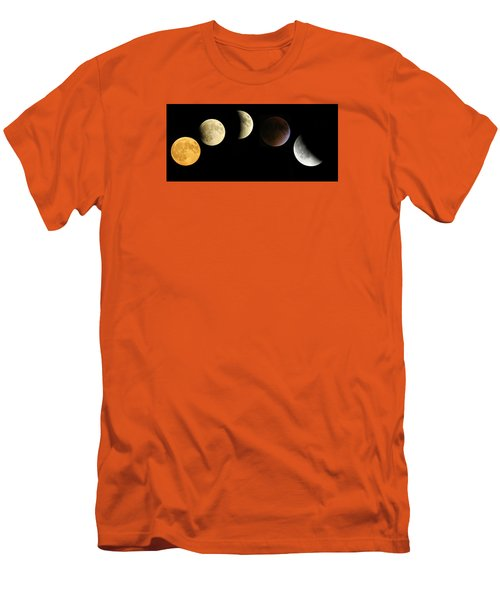 Supermoon Total Lunar Eclipse Men's T-Shirt (Slim Fit) by Nikki McInnes
