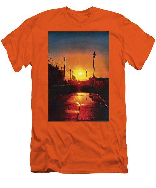 Surreal Cityscape Sunset Men's T-Shirt (Athletic Fit)