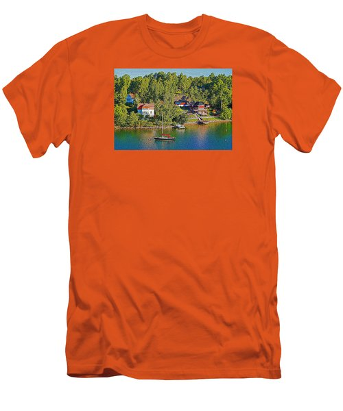 Men's T-Shirt (Slim Fit) featuring the photograph Swedish Island Village by Dennis Cox WorldViews