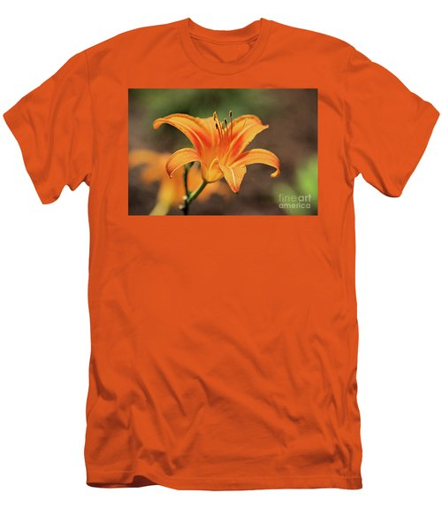 Sweet Lilly In Orange Men's T-Shirt (Athletic Fit)