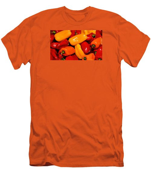 Sweet Peppers Men's T-Shirt (Slim Fit) by Pat Cook