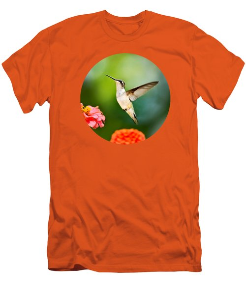 Sweet Promise Hummingbird Men's T-Shirt (Slim Fit) by Christina Rollo