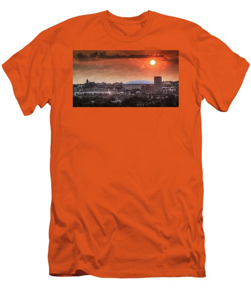 Syracuse Sunrise Over The Dome Men's T-Shirt (Slim Fit) by Everet Regal