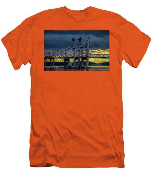 Tale Of 2 Bridges At Sunset Men's T-Shirt (Athletic Fit)