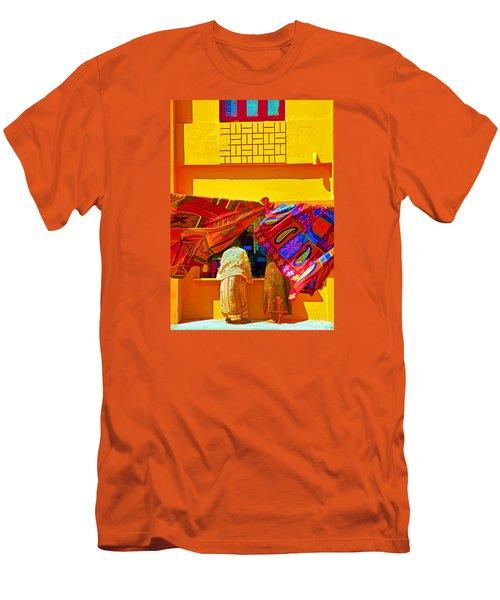 Men's T-Shirt (Slim Fit) featuring the photograph Tamil Nadu Shop by Dennis Cox WorldViews