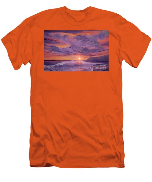 Tangerine Sky Men's T-Shirt (Slim Fit) by Holly Martinson