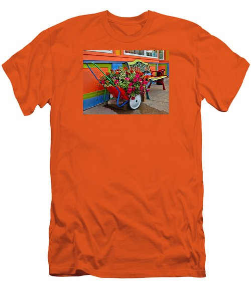 Tannersville Color Blast Men's T-Shirt (Slim Fit) by Nancy De Flon