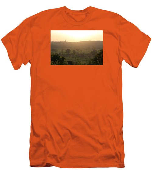 Tansa Valley, Vajreshwari From The Devi Temple Complex Men's T-Shirt (Slim Fit) by Jennifer Mazzucco
