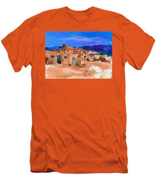 Taos Pueblo Village Men's T-Shirt (Athletic Fit)