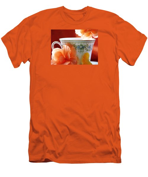 Men's T-Shirt (Slim Fit) featuring the photograph Tea In The Garden by Angela Davies