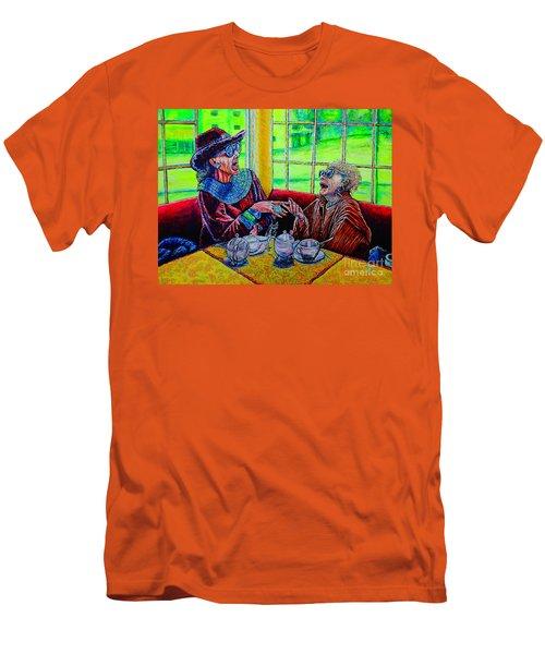 Tea Party Men's T-Shirt (Slim Fit) by Viktor Lazarev