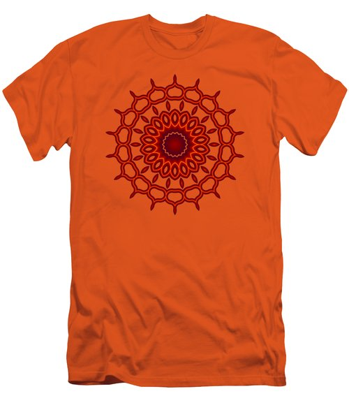 Teardrop Fractal Mandala Men's T-Shirt (Athletic Fit)