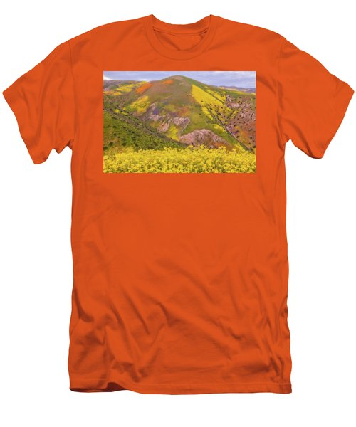 Men's T-Shirt (Slim Fit) featuring the photograph Temblor Range Color by Marc Crumpler