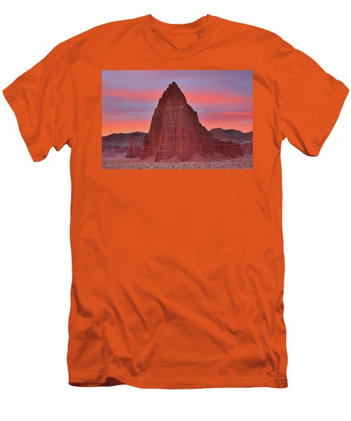 Temple Of The Sun And Moon At Sunrise At Capitol Reef National Park Men's T-Shirt (Athletic Fit)