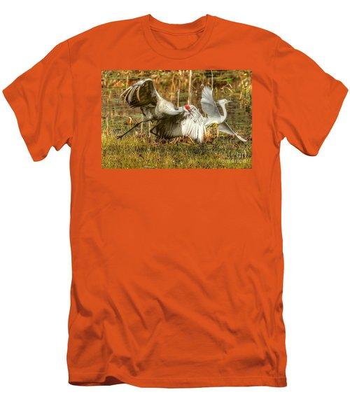 Territorial Dispute Men's T-Shirt (Slim Fit) by Myrna Bradshaw